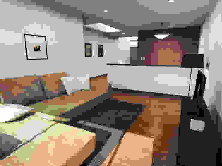 Casa Jurica - Sala de tv Salas multimedia modernas de Bloque Arquitectónico Moderno