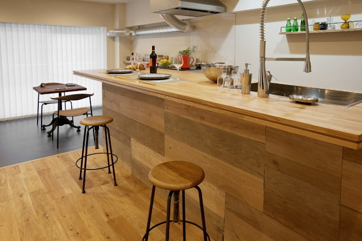 Eclectic style kitchen by nano Architects Eclectic Wood Wood effect