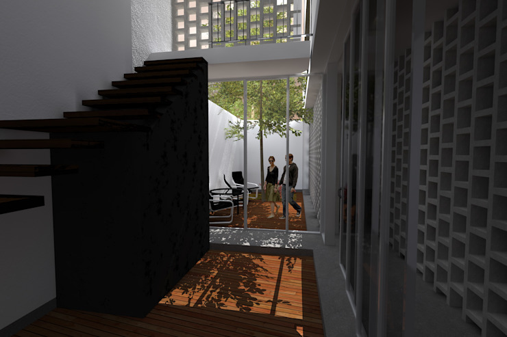 Minimalist living room by POMAC Arquitectos Minimalist
