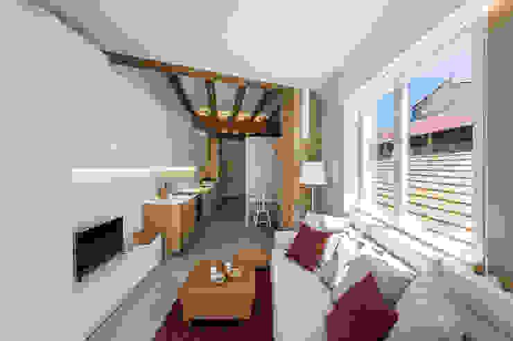 Ruang Keluarga oleh versea arquitectura, Mediteran