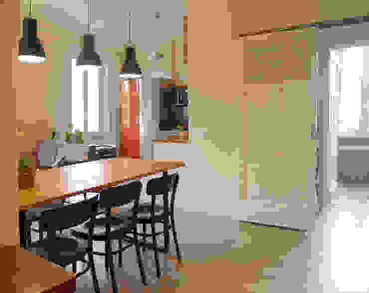 ArchEnjoy Studio Scandinavian style dining room Wood Beige
