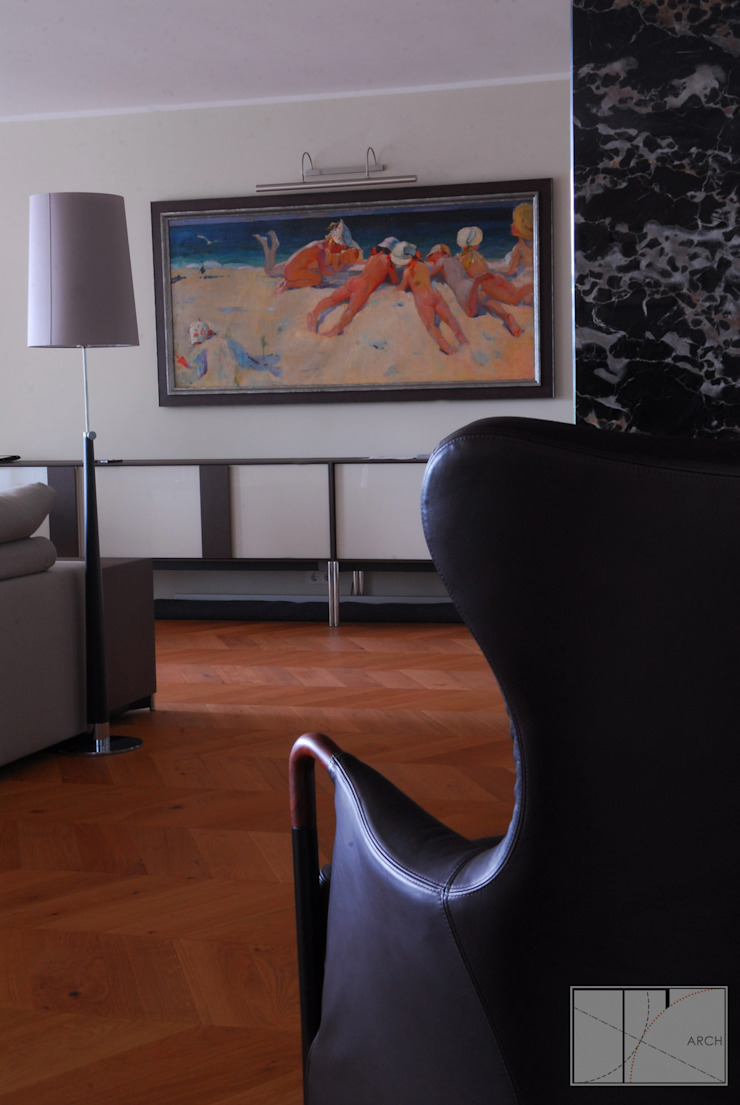 Salon moderne par Архитектурная Мастерская Георгия Пряничникова Moderne