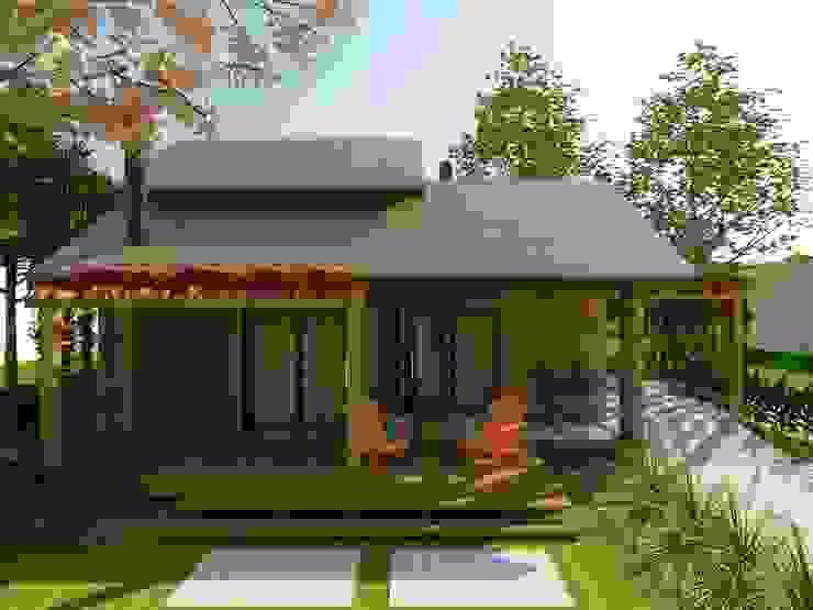 Rustic style houses by Cíntia Schirmer | arquiteta e urbanista Rustic Bricks