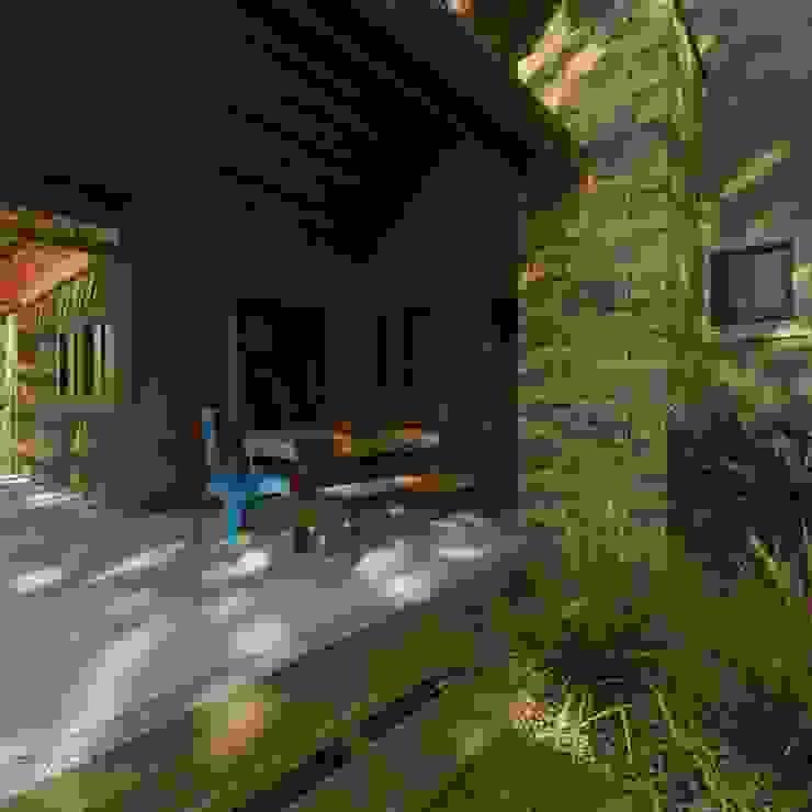 Rumah Gaya Rustic Oleh Cíntia Schirmer | arquiteta e urbanista Rustic Kayu Wood effect