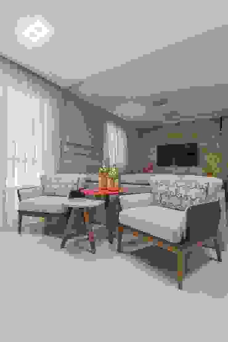 Salones de estilo moderno de Silvana Borzi Design Moderno Madera Acabado en madera