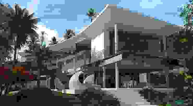 Fachada Casas modernas de Vivian Dembo Arquitectura Moderno Cobre/Bronce/Latón