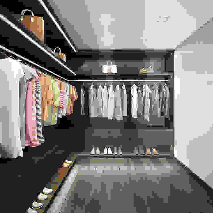 غرفة الملابس تنفيذ DIKA estudio
