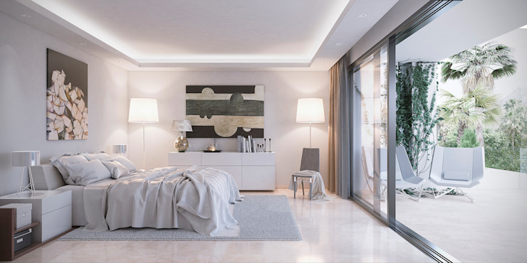 Bedroom by DIKA estudio, Minimalist