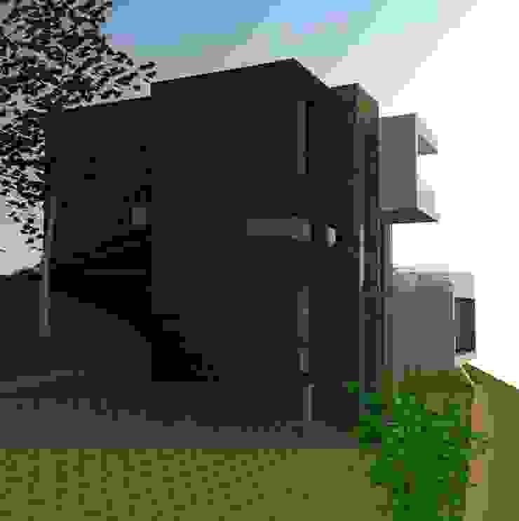 H2H arquitectos Moderne huizen IJzer / Staal Zwart