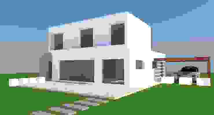 H2H arquitectos Maisons minimalistes Béton armé Blanc
