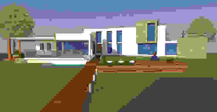 H2H arquitectos Maisons modernes Béton armé Blanc