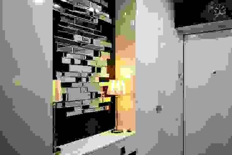 AM Design Eklektyczny korytarz, przedpokój i schody