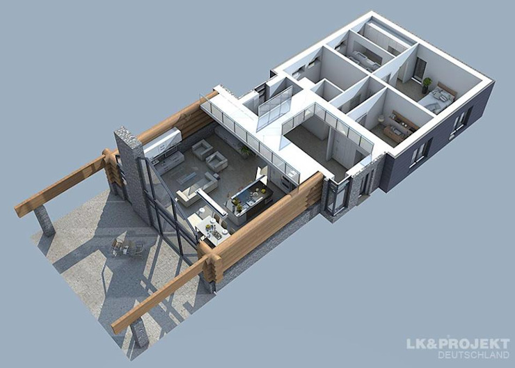 Casas estilo moderno: ideas, arquitectura e imágenes de LK&Projekt GmbH Moderno