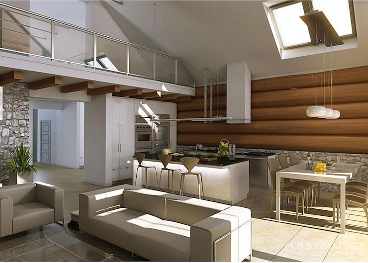 Livings de estilo moderno de LK&Projekt GmbH Moderno