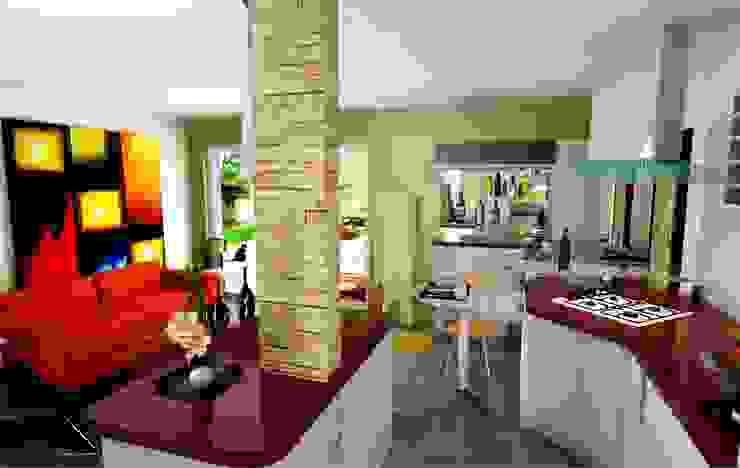 Cocinas de estilo  por ESTUDIO DE ARQUITECTURA C.A, Moderno