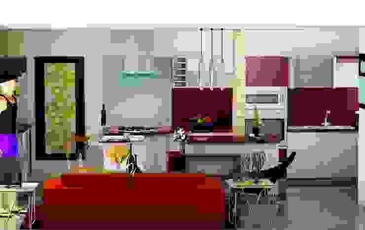 COCINA Cocinas de estilo moderno de ESTUDIO DE ARQUITECTURA C.A Moderno