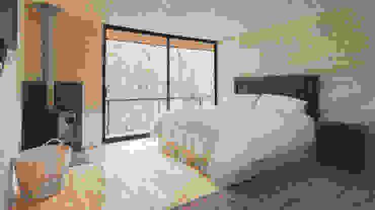 Casa L Dormitorios de estilo rústico de Ciclo Arquitectura Rústico Madera Acabado en madera