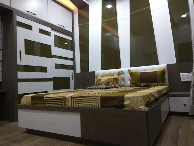 Proposed Interior Of Bungalow. Modern style bedroom by KANAKIA INTERIOR AND CONSULTANCY Modern