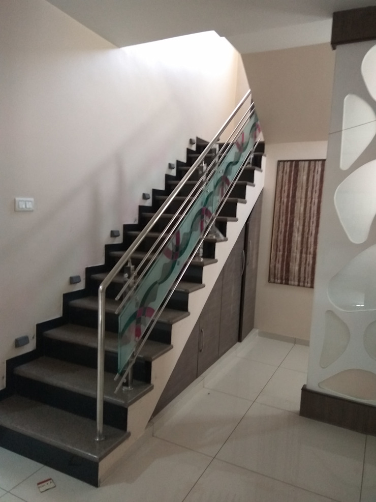 Proposed Interior Of Bungalow. Modern corridor, hallway & stairs by KANAKIA INTERIOR AND CONSULTANCY Modern