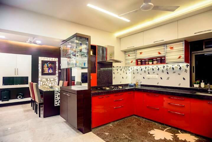 Proposed Interior Of 3BHK Flat Classic style kitchen by KANAKIA INTERIOR AND CONSULTANCY Classic