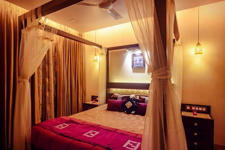 Proposed Interior Of 3BHK Flat Classic style bedroom by KANAKIA INTERIOR AND CONSULTANCY Classic