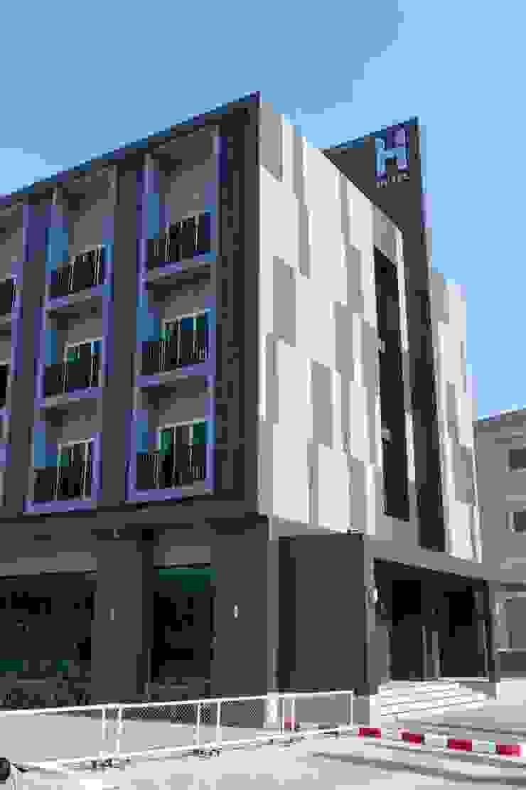 โรงแรม hansanan โดย scaleup architects โมเดิร์น คอนกรีต