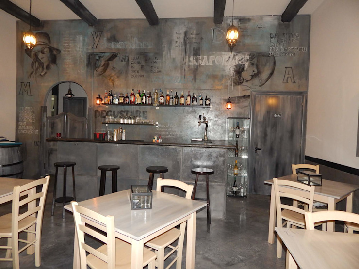 Restaurantes de estilo  por Meraki di Irene Mancini Decorazione d'Interni
