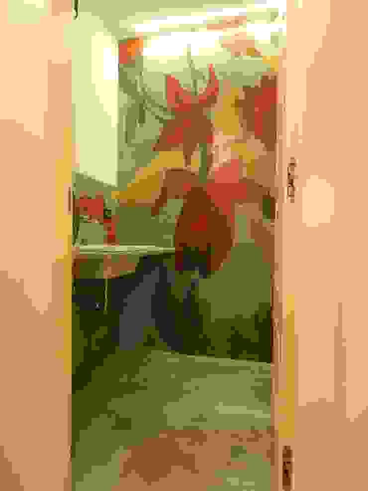 現代浴室設計點子、靈感&圖片 根據 Meraki di Irene Mancini Decorazione d'Interni 現代風 水泥