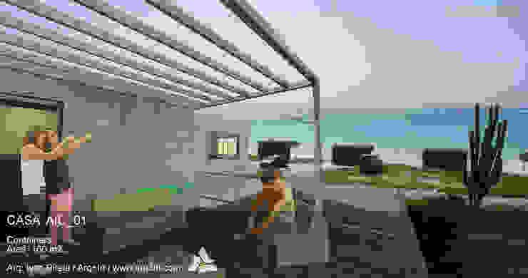 Casa AIC_01 Casas modernas de Arq+In Arquitectura Integral Moderno Metal