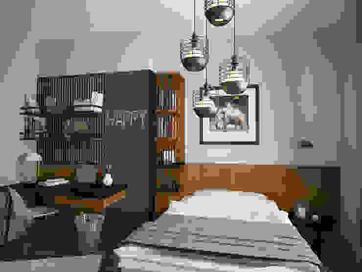 Öykü İç Mimarlık – Villa Projelerimiz (3D):  tarz Yatak Odası,