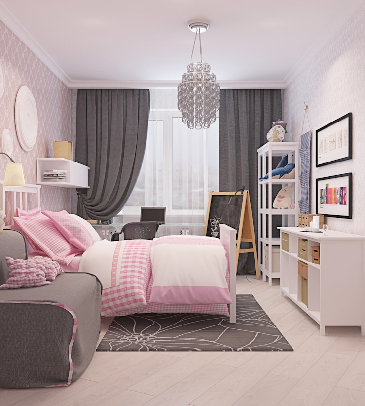 ДизайнМастер Eclectic style bedroom Pink