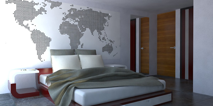 REMODELACION/AMPLIACION Eidética Dormitorios modernos