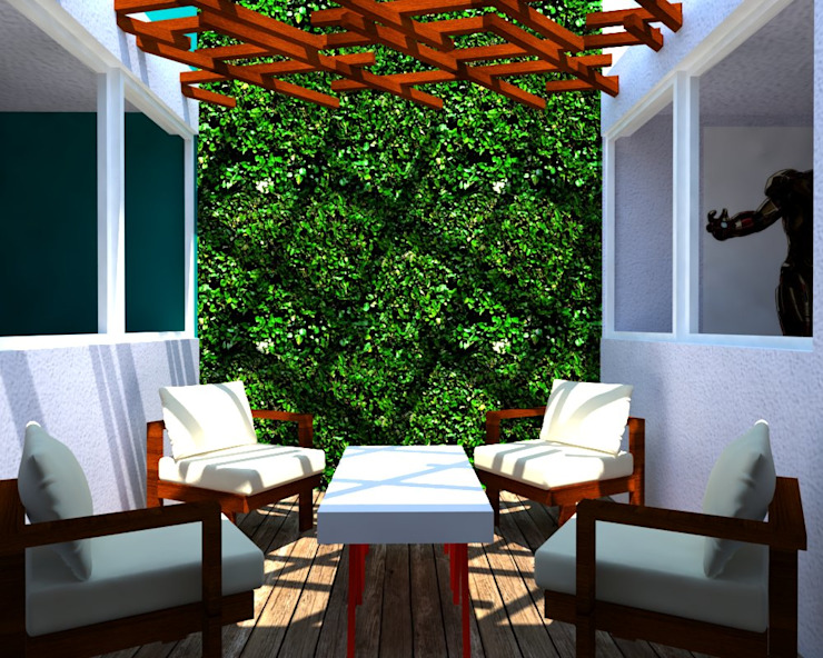 REMODELACION/AMPLIACION Balcones y terrazas minimalistas de Eidética Minimalista