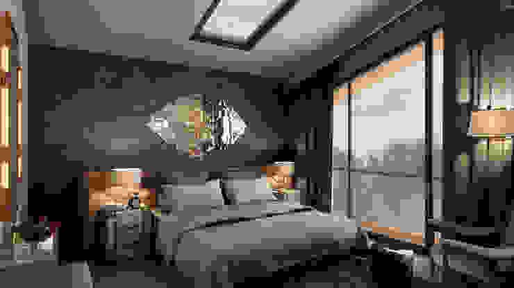 Kabu Desıgn – Saklıbahçe Yatak Odası: modern tarz , Modern