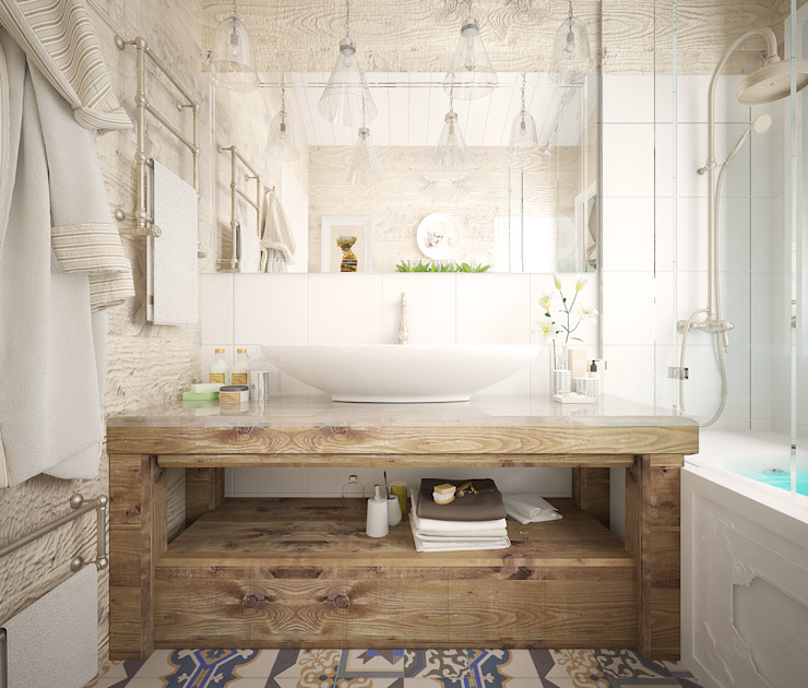 Scandinavian style bathroom by Дизайн-бюро Анны Шаркуновой 'East-West' Scandinavian