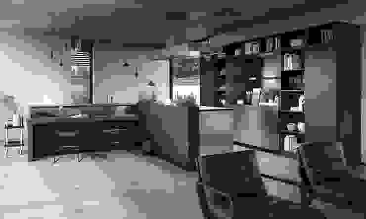 liva decor – yenilikçi mutfaklar: minimalist tarz , Minimalist Ahşap Ahşap rengi