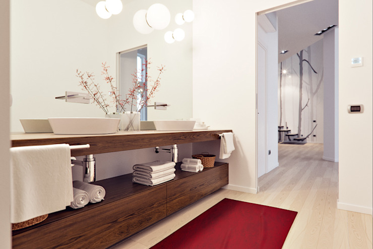 Modern bathroom by Annalisa Carli Modern لکڑی Wood effect