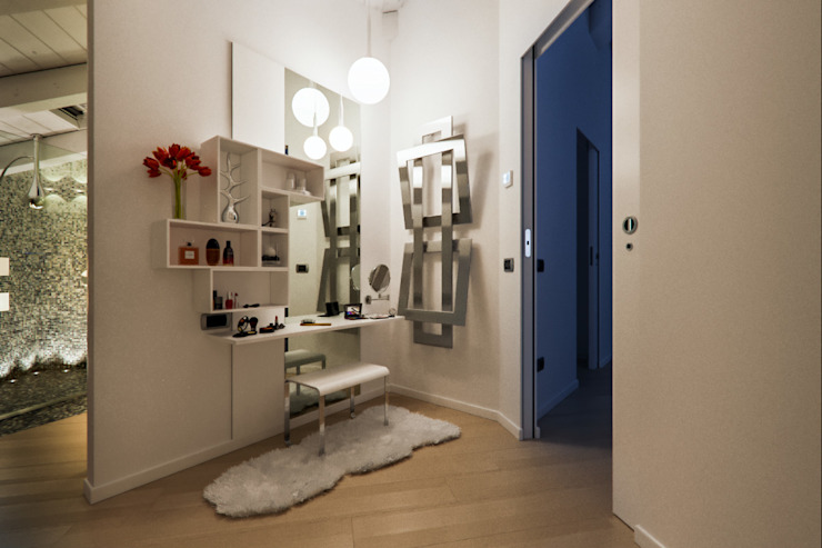 Annalisa Carli Modern Banyo Masif Ahşap Beyaz