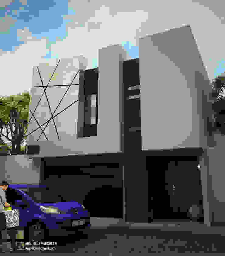 Residencia Bahia ST-María Fachada Principal Casas minimalistas de 3D MarqJes arquitecto Minimalista