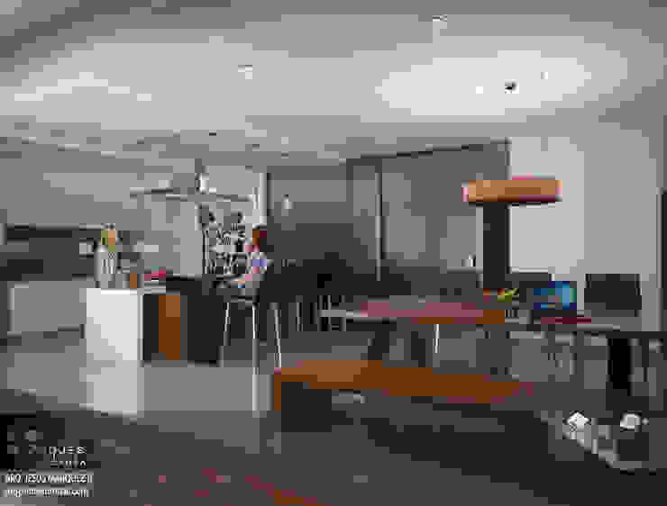 Residencia Bahia ST-María Cocina Comedor Cocinas minimalistas de 3D MarqJes arquitecto Minimalista