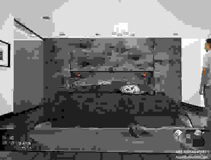 Residencia Bahia ST-María Recámara 02 Dormitorios minimalistas de 3D MarqJes arquitecto Minimalista Concreto