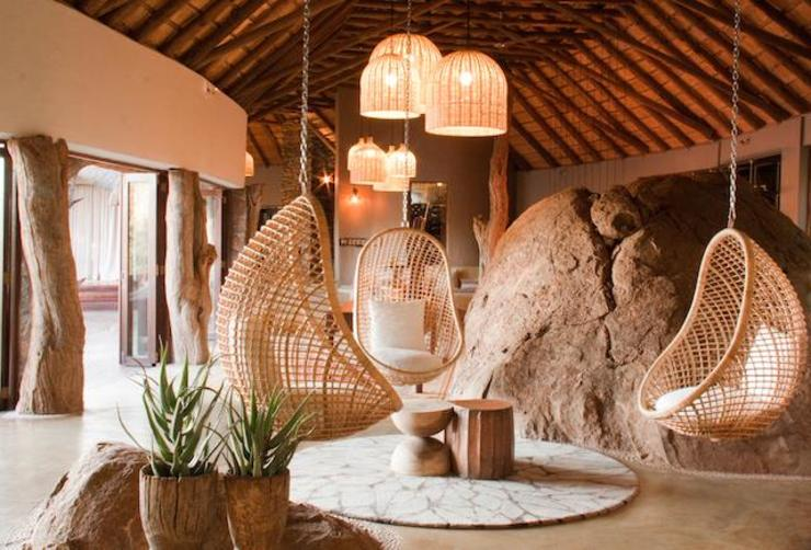 Madikwe Hills informal lounge by Nowadays Interiors Eclectic Wood Wood effect
