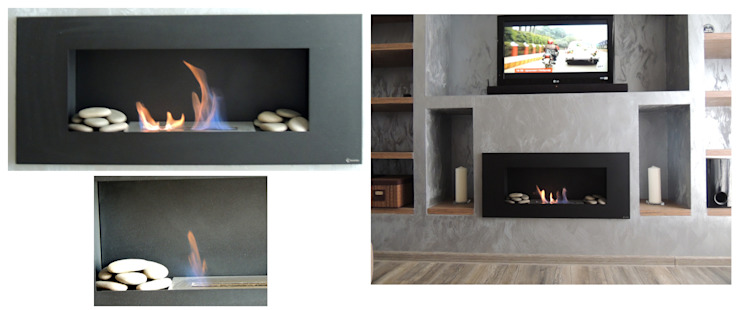Студия 'Облако-Дизайн' Living roomFireplaces & accessories Grey