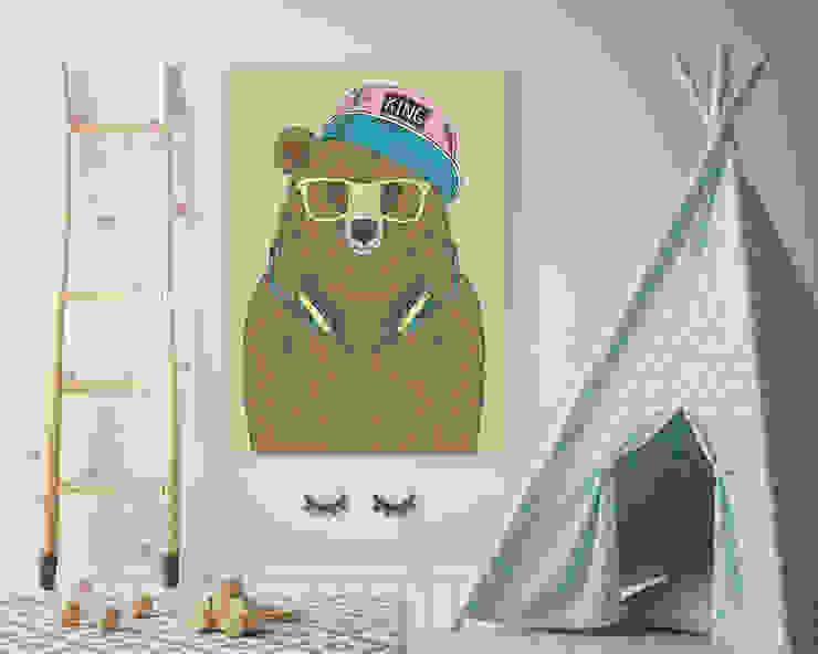 "Akustikbild ""Bear"":  Kinderzimmer von freiraum Akustik ,Modern"
