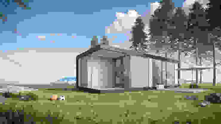 Moderne stacaravan Moderne huizen van Bongers Architecten Modern