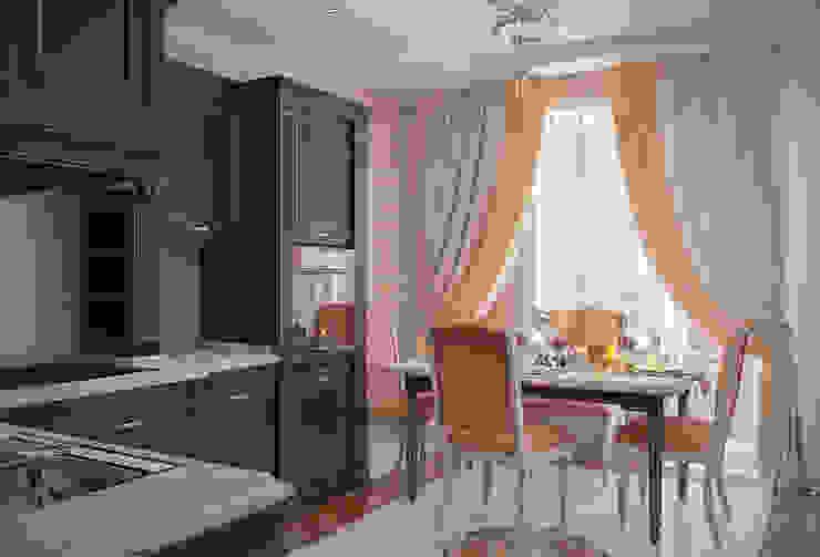 Квартира в стиле современной классики, 90 кв.м.: Кухни в . Автор – Студия дизайна интерьера Маши Марченко, Модерн