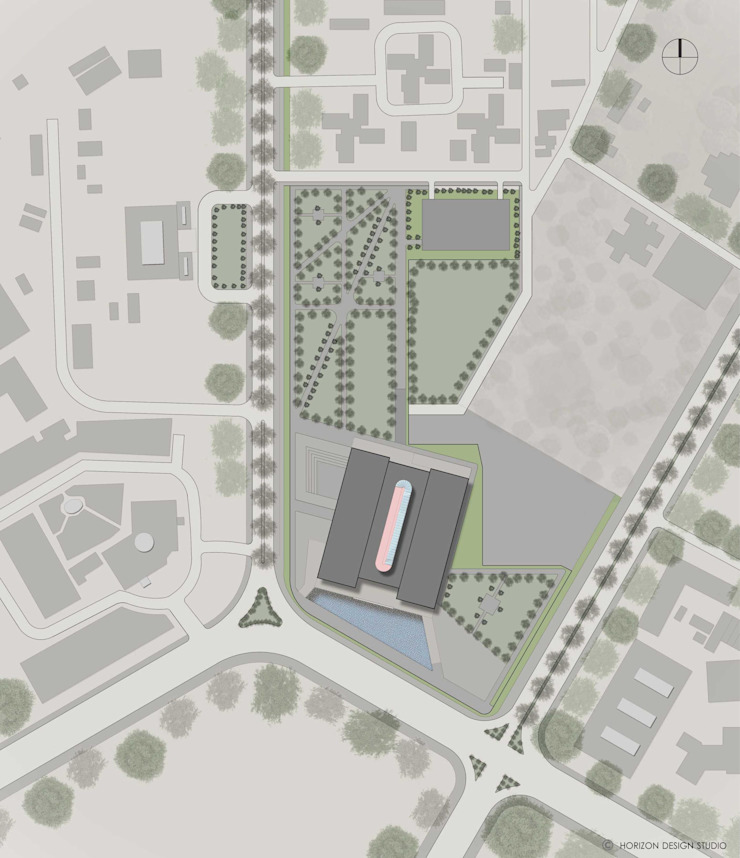 SITE PLAN OF PROPOSED INDIAN NATIONAL WAR MUSEUM: colonial  by Horizon Design Studio Pvt Ltd,Colonial