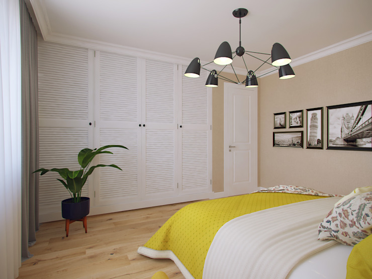Scandinavian style bedroom by Студия дизайна интерьера Маши Марченко Scandinavian