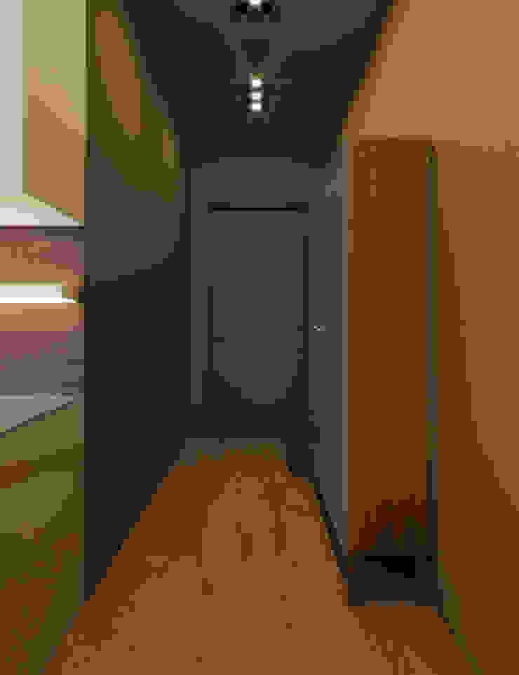 Modern corridor, hallway & stairs by Студия дизайна интерьера Маши Марченко Modern