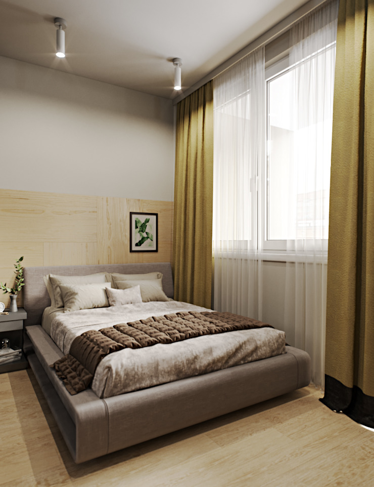 Modern style bedroom by Студия дизайна интерьера Маши Марченко Modern